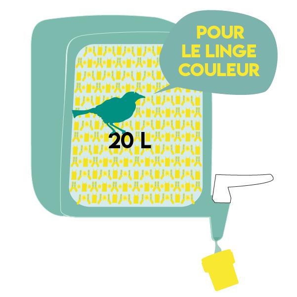 Jerrican 20 litres de lessive couleur La Corde à linge